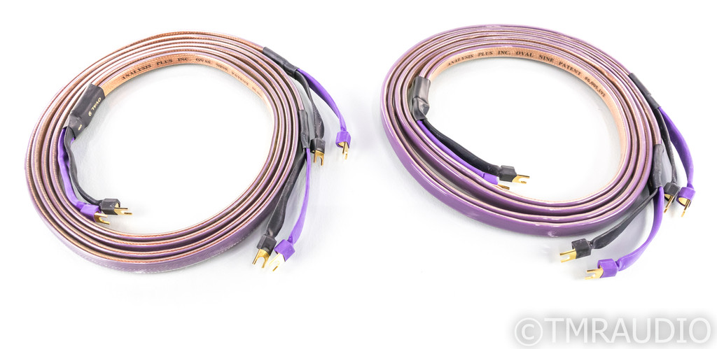 Analysis Plus Oval 9 Biwire Speaker Cables; 8ft Pair