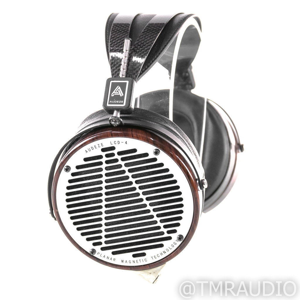 Audeze LCD-4 Open Back Planar Magnetic Headphones; Cocobolo; Upgraded Cables
