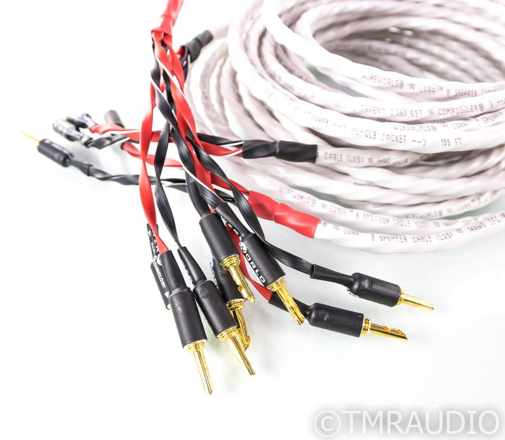 Wireworld Luna 8 Bi-Wire Speaker Cables; 7m Pair