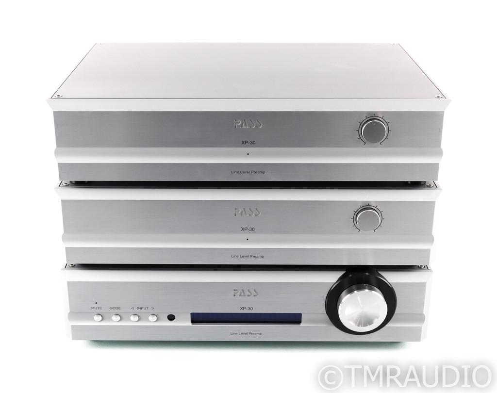 Pass Labs XP-30 Mono Preamplifier; Pair w/ Control Unit; XP30; Remote