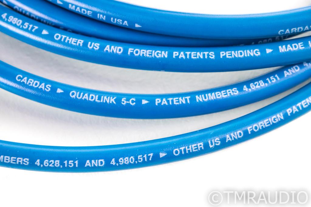 Cardas Quadlink 5-C XLR Cables; 5C; 2m Pair Balanced Interconnects