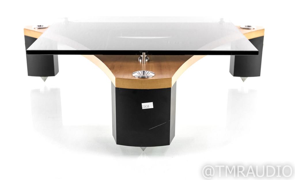 Naim Fraim Component Isolation Stand; Glass Shelf; Cherry & Black
