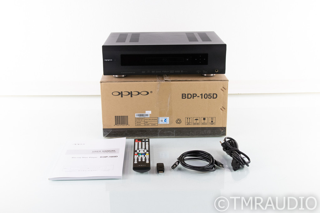 Oppo BDP-105D Universal Blu-Ray Player; BDP105D; Darbee Edition; Remote