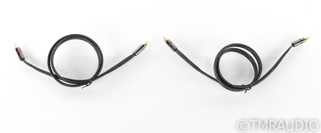 Morrow Audio MA1 RCA CAbles; 1m Pair Interconnects; MA-1; Standard RCA