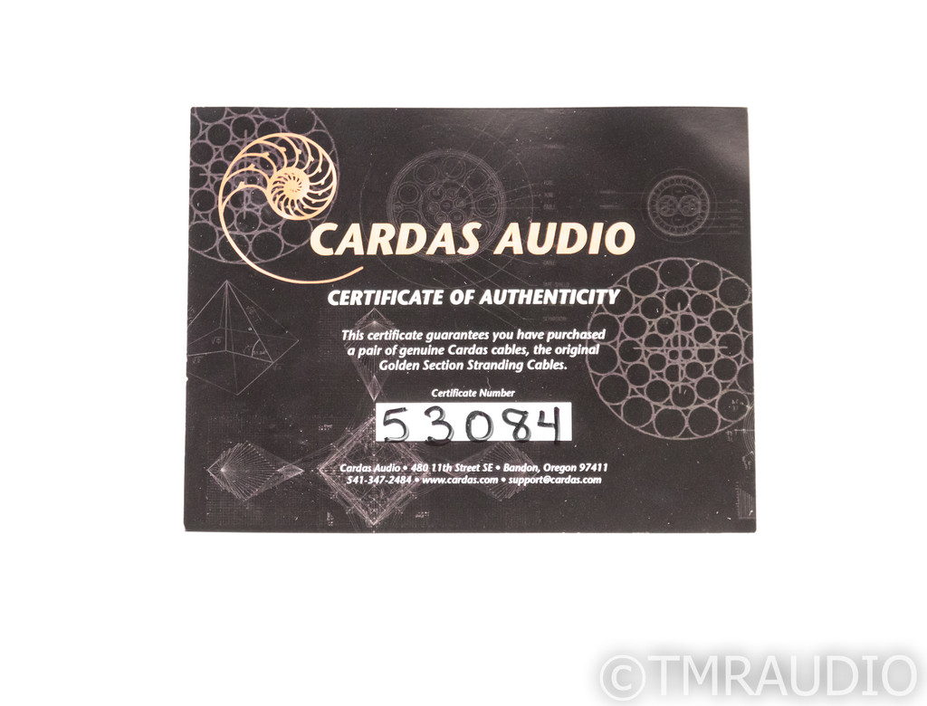 Cardas Golden Reference Speaker Cables; 10ft Pair; Spades