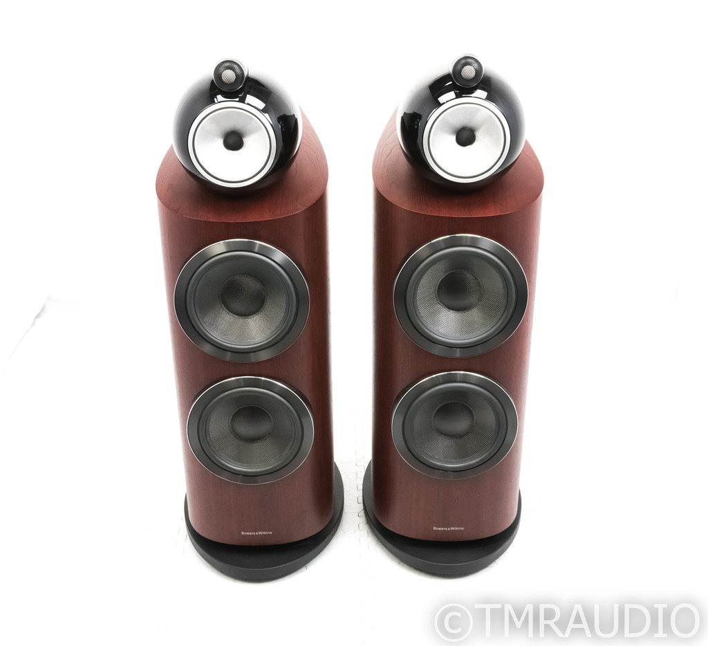 B&W 800 D3 Floorstanding Speakers; Rosenut Pair; 800D3