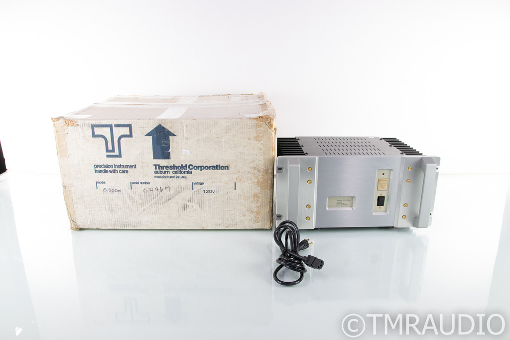 Threshold S/350e Vintage Stereo Power Amplifier; S350e; Original; STASIS