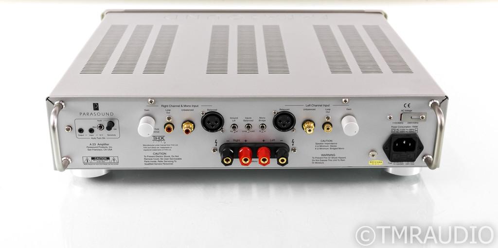 Parasound Halo A 23 Stereo Power Amplifier; A23; Silver (1/1)