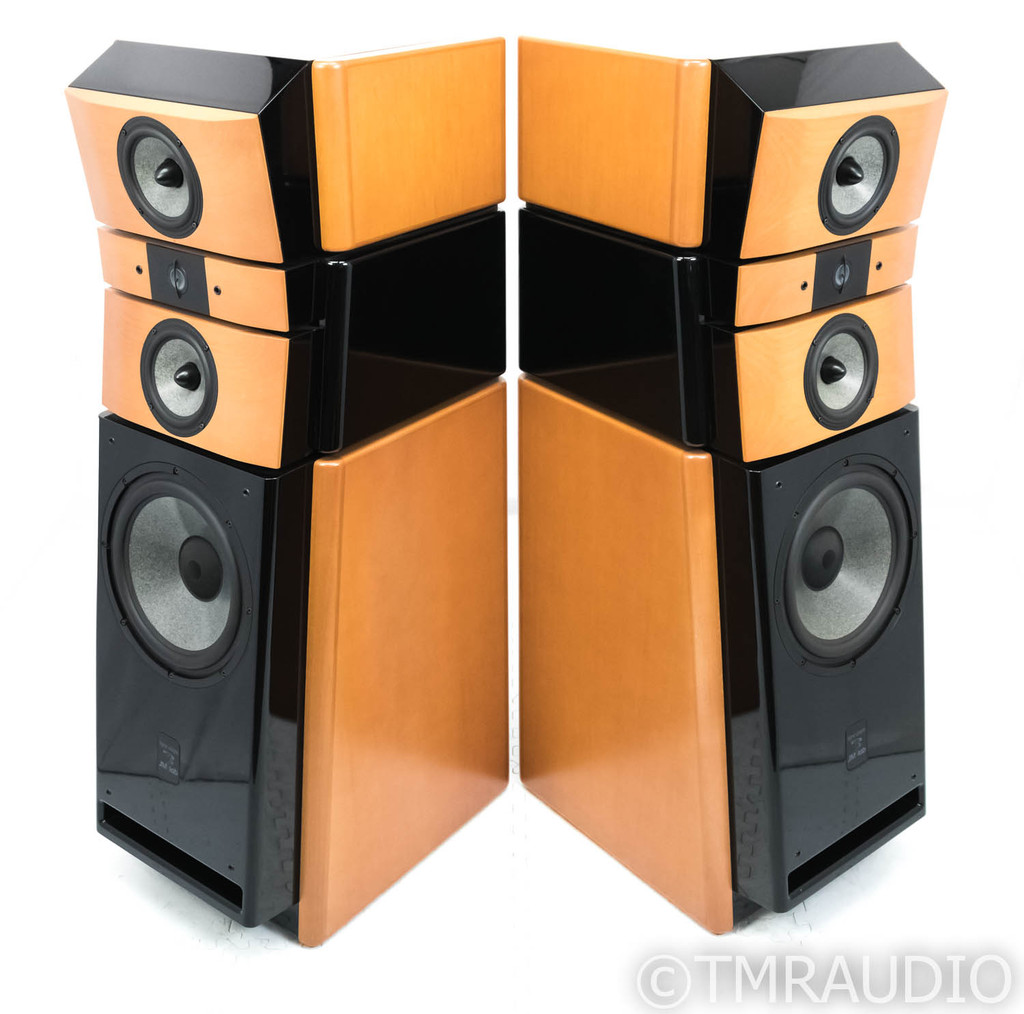 JM Labs Utopia Floorstanding Speakers; Focal; Anigre and Black Laquer Pair