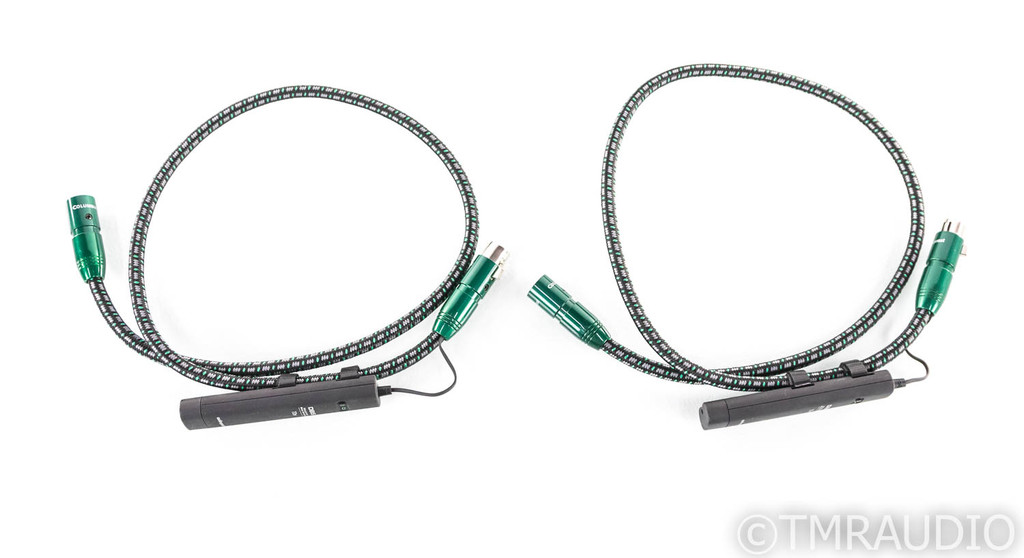 AudioQuest Columbia XLR Cables; 1m Pair Balanced Interconnects; 72v DBS