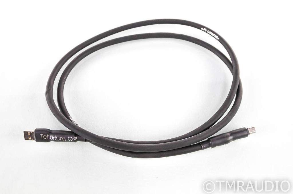 Tellurium Q Black USB Cable; Single 1.5m Digital Interconnect (SOLD)