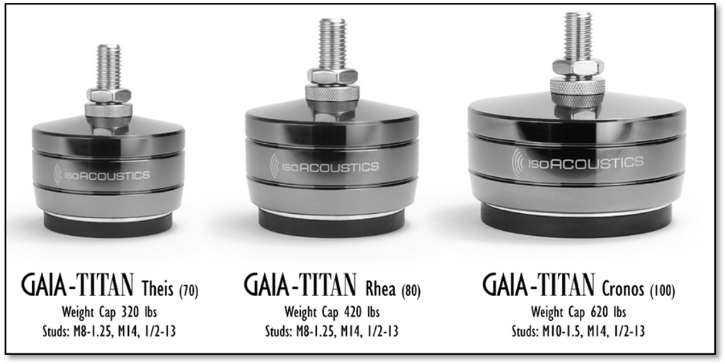IsoAcoustics Gaia Titan Cronos Isolators; Set of 4; New w/ Full Warranty