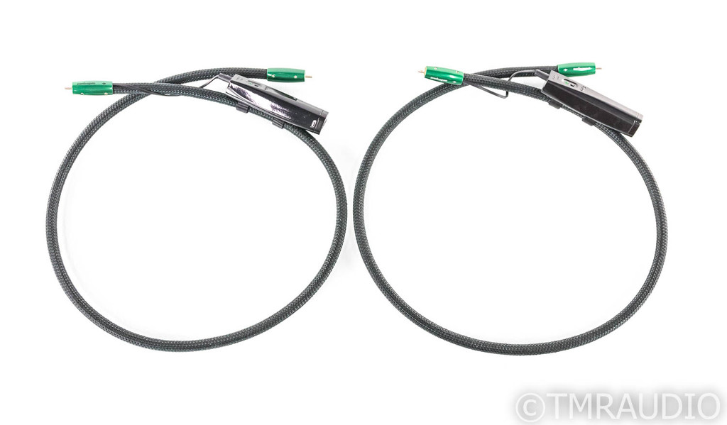 AudioQuest Earth RCA Cables; 1m Pair Interconnects; 72v DBS