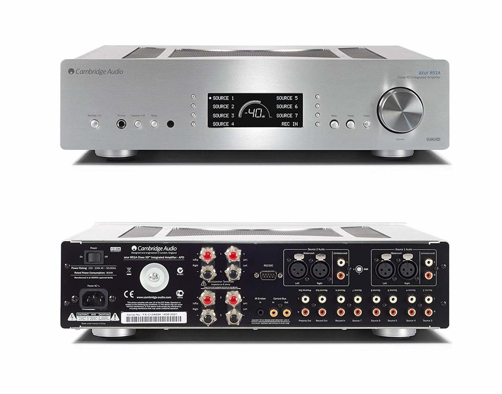 Cambridge Audio Azur 851A Stereo Integrated Amplifier; Class XD; Silver