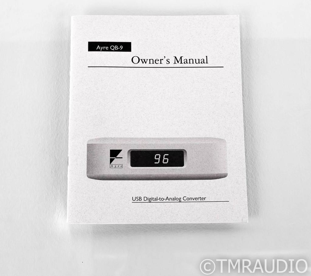 Ayre QB-9 DSD USB DAC; D/A Converter; QB9; Silver