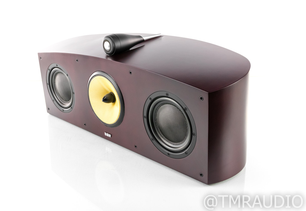 B&W Nautilus HTM1 Center Channel Speaker; Red Cherry; HTM-1