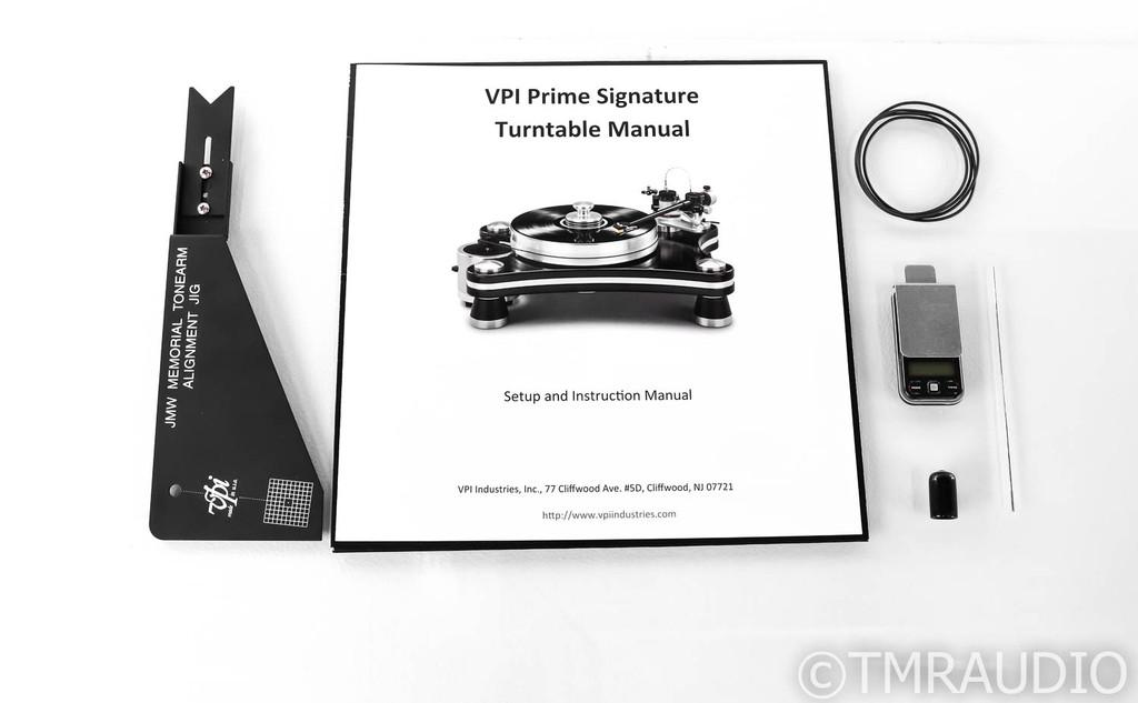 VPI Prime Signature Turntable; JMW 10-FB Tonearm; Balanced Output (No Cartridge)