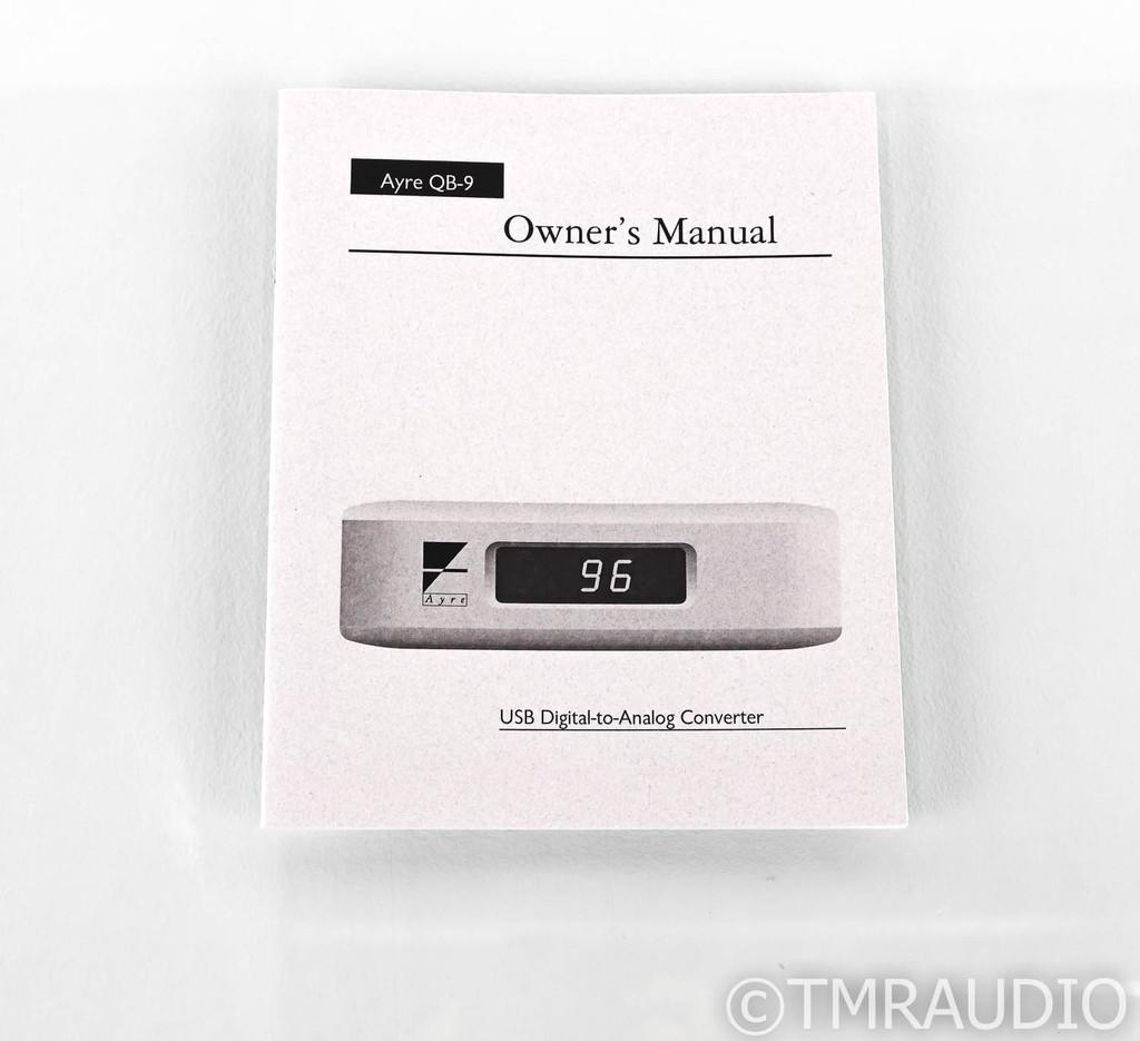 Ayre QB-9 USB DAC; QB9; Silver