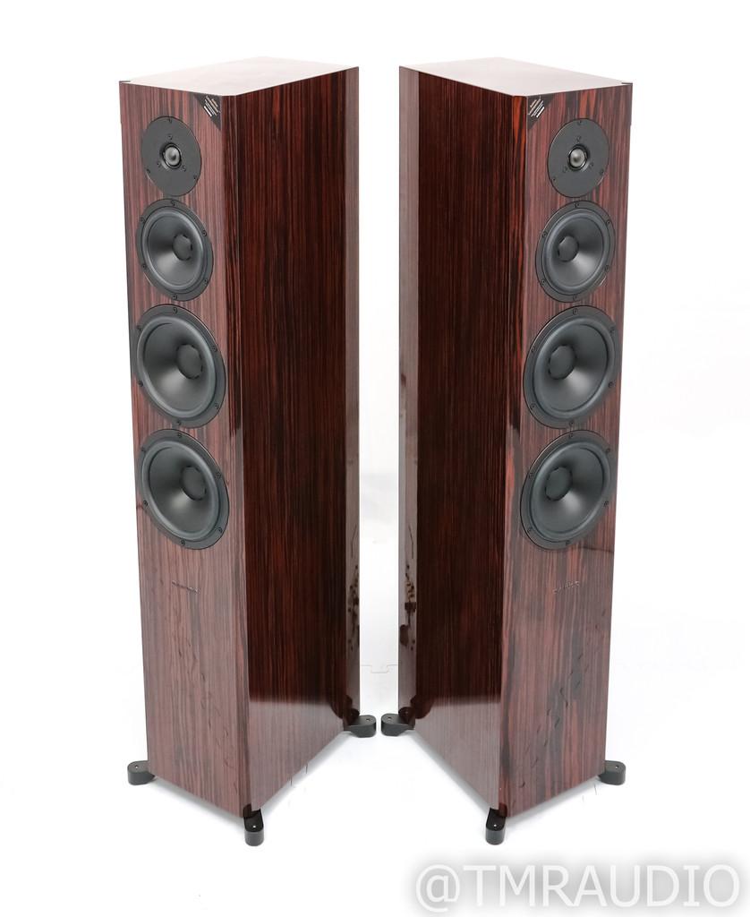 Dynaudio Focus 60 XD Powered Floorstanding Speakers; Rosewood Pair; Wireless (SOLD)