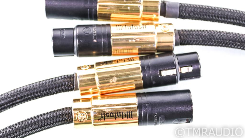 McIntosh CBA1M XLR Cables; 1m Pair Balanced Interconnects; CBA-1M
