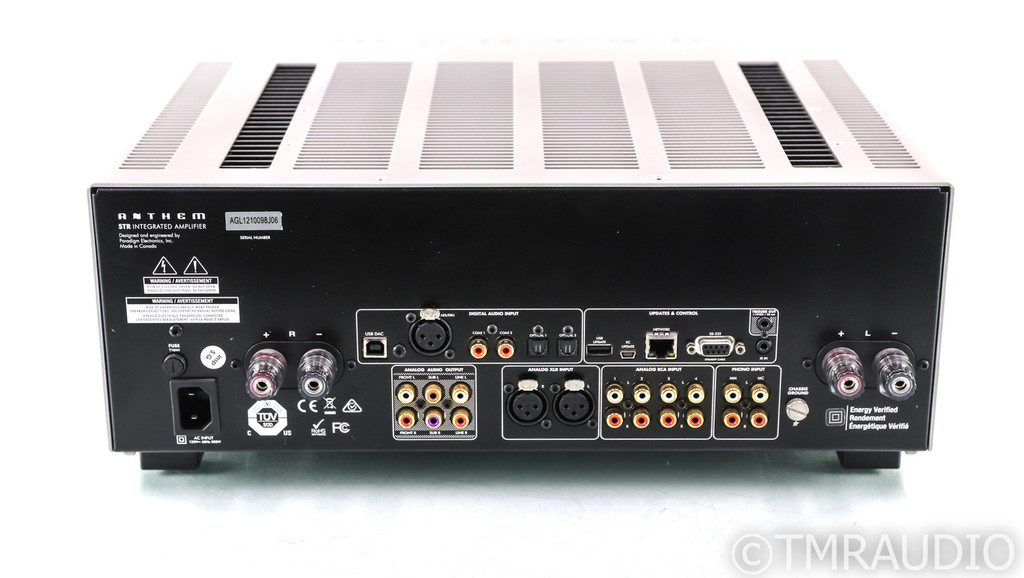 Anthem STR Stereo Integrated Amplifier; ARC; MM / MC Phono; Remote