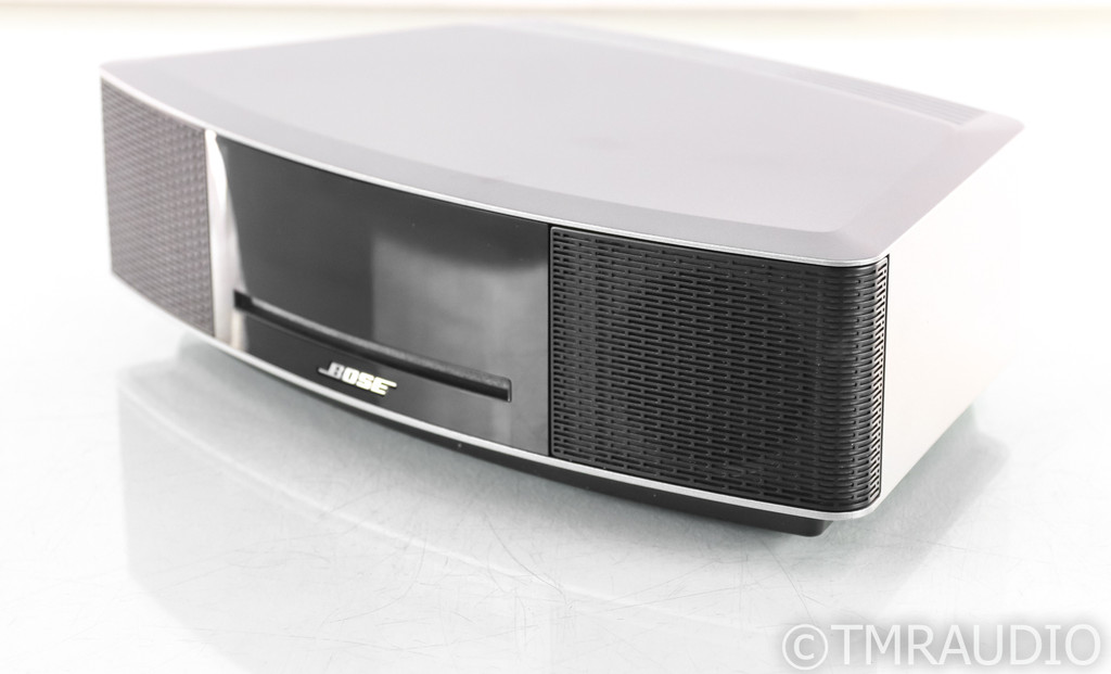 Bose Wave Music System IV Powered Speaker; CD Player; AM/FM; Silver; Remote