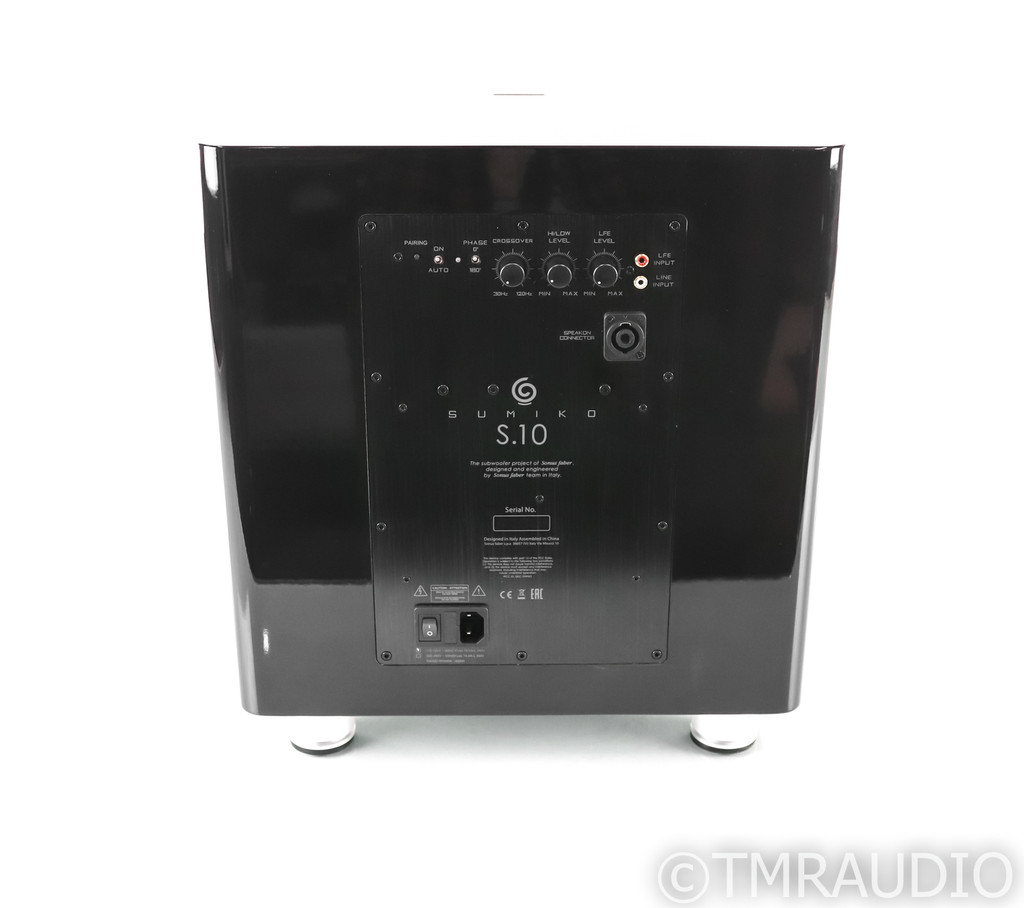 """Sumiko S.10 12"""" Powered Subwoofer; Black; S10"""