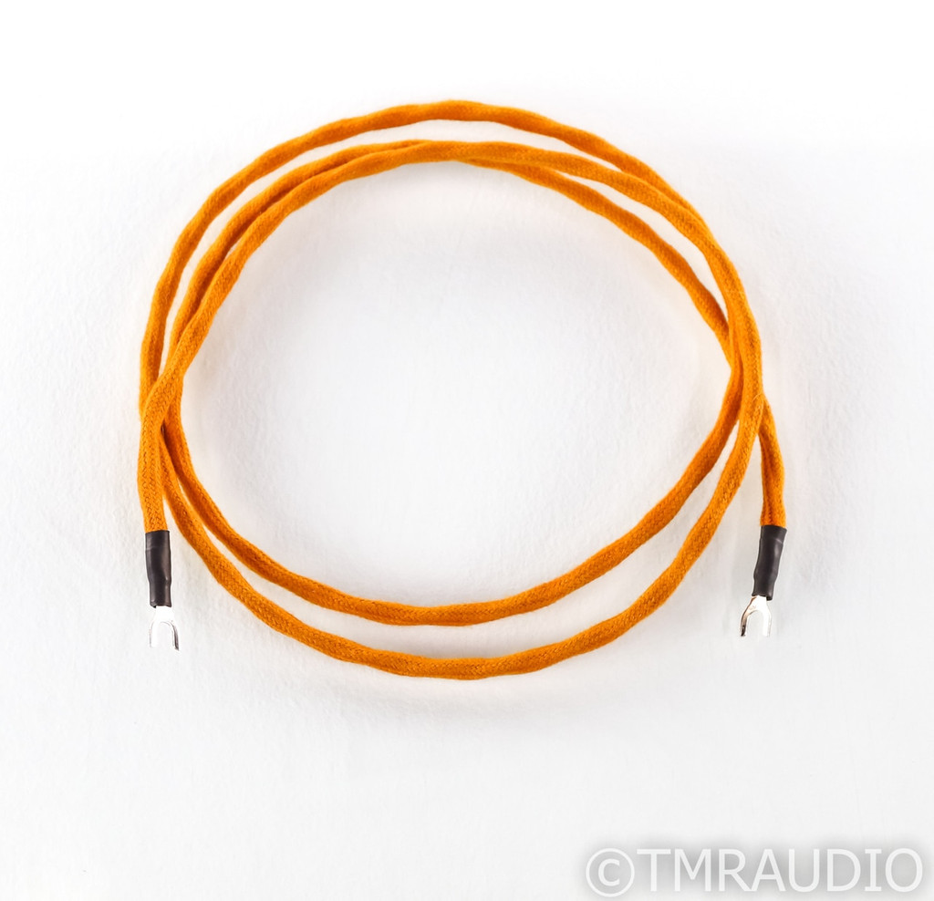 Luna Cables Orange Phono Turntable Ground Wire; Single 1.3m Cable