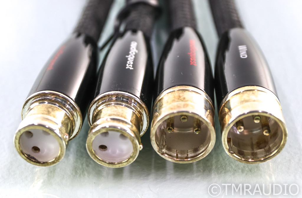 AudioQuest Wind XLR Cables; 1m Pair Balanced Interconnects; 72v DBS (SOLD2)