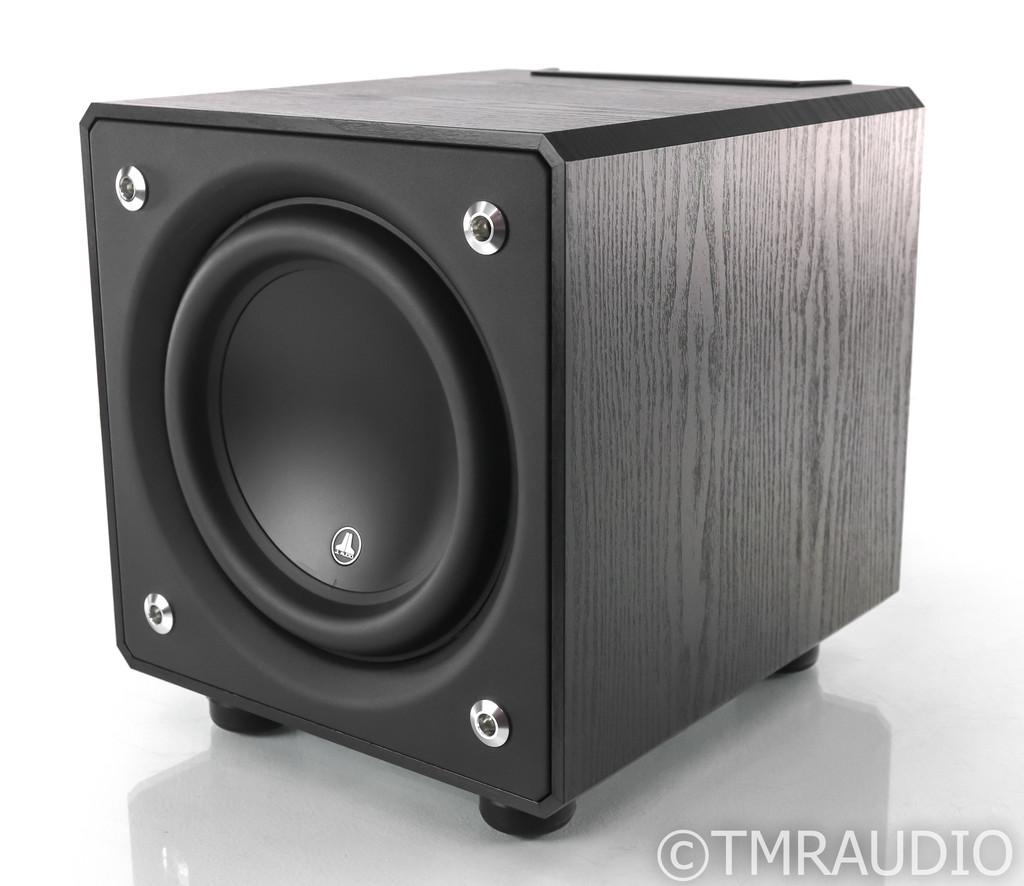 "JL Audio E110 E-Sub 10"" Powered Subwoofer; Black Ash w/ SVS SoundPath Feet"