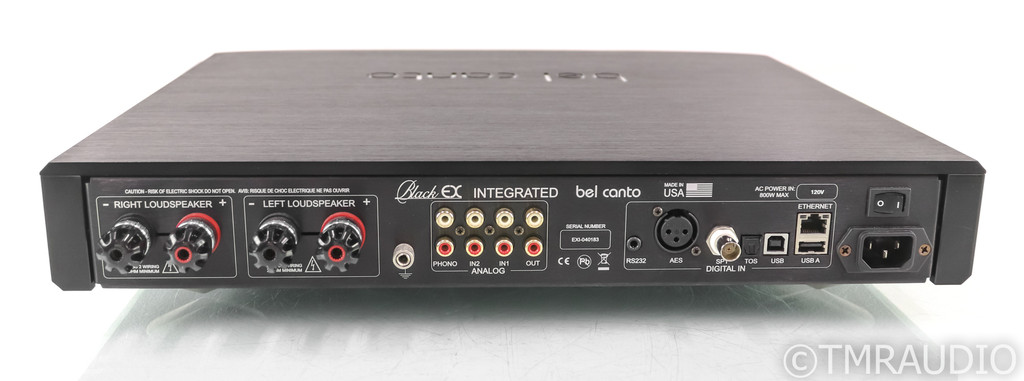 Bel Canto Black EX Stereo Integrated Amplifier; MM/MC Phono; MQA; Roon Ready