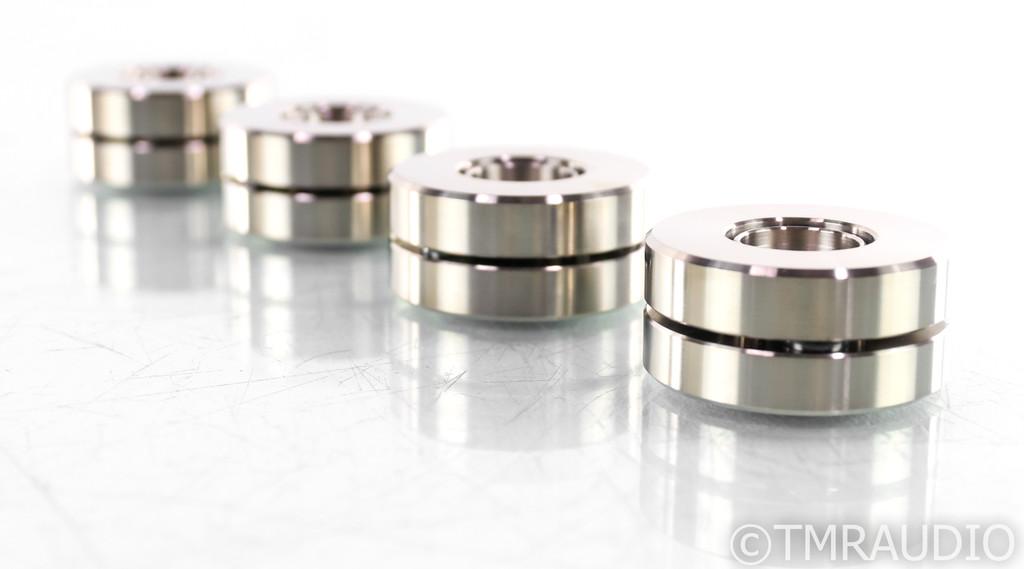 Finite Elemente Cerabase Slimline Isolation Feet; Set of 4; Silver