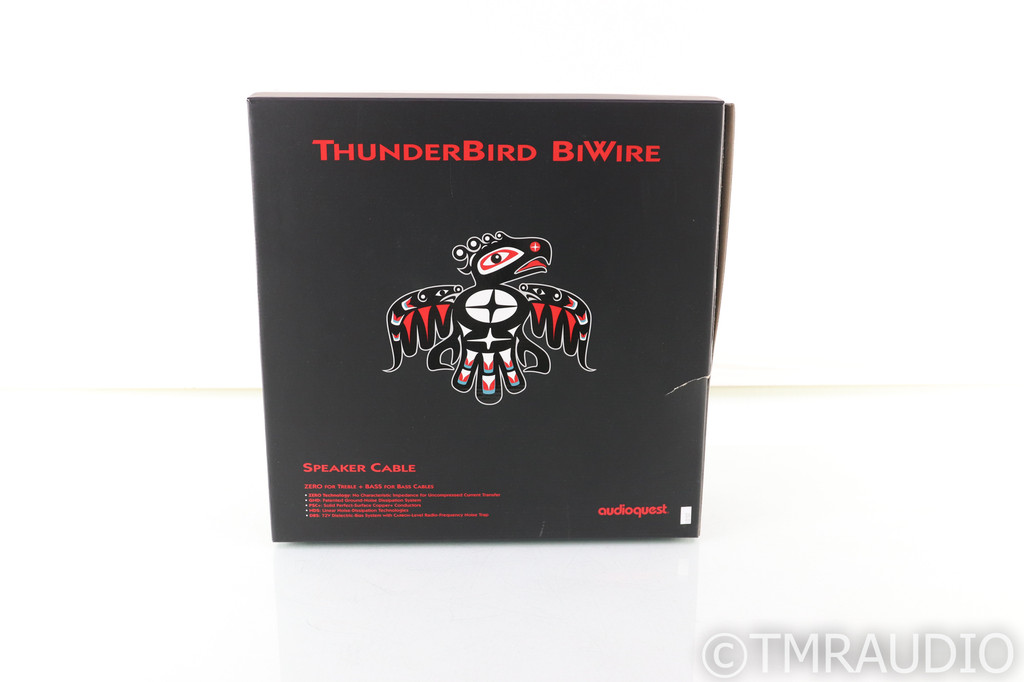 AudioQuest Thunderbird Biwire Combo Speaker Cables; 8ft Pair (Open w/ Warranty)