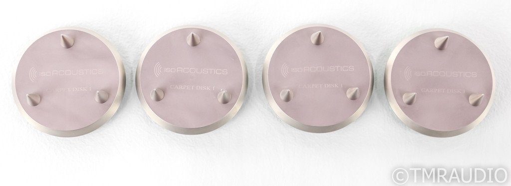 IsoAcoustics Gaia II Carpet Disks; Isolation Spikes Platform; Set of 4