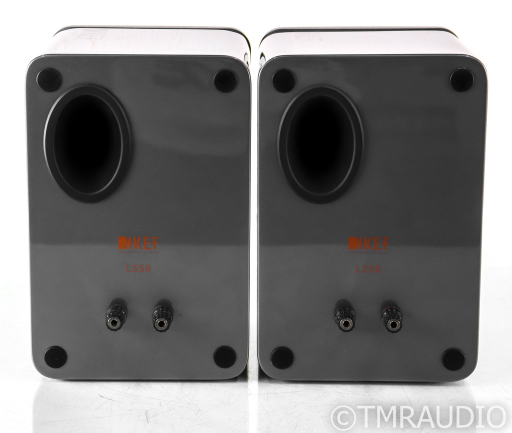 KEF LS50 Bookshelf Speakers; Dark Titanium Pair; LS-50