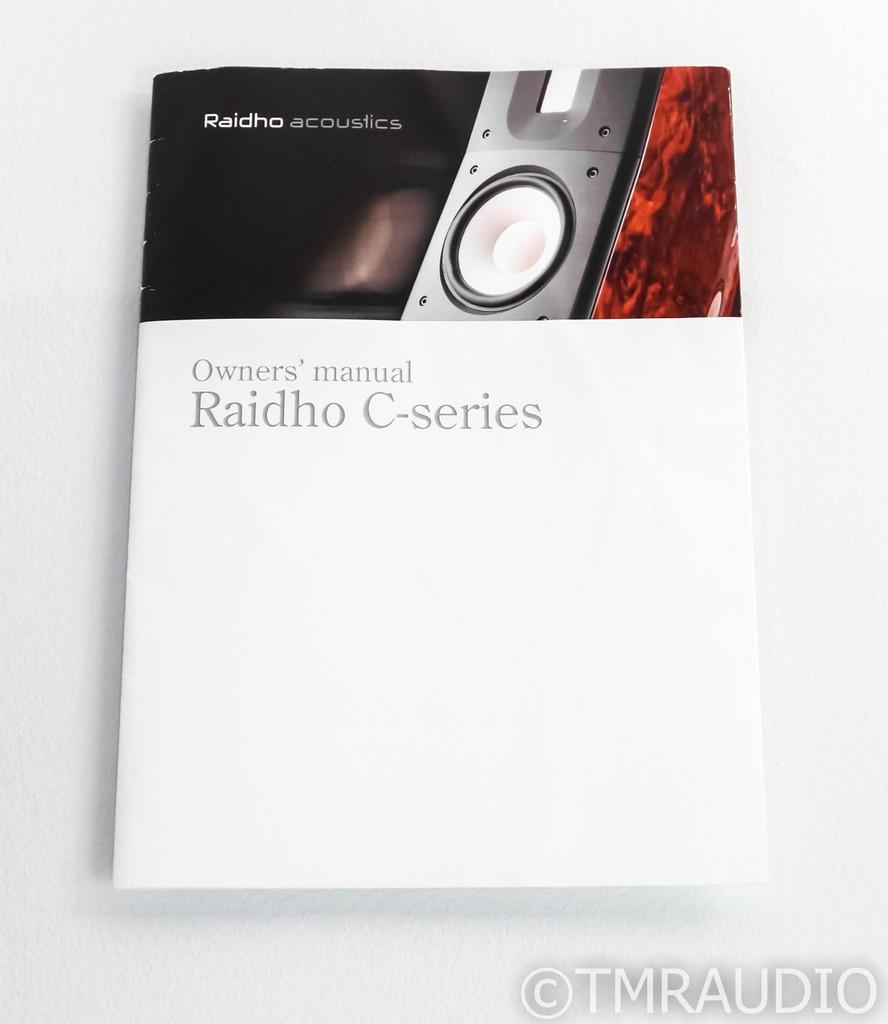Raidho C1.2 Bookshelf Speakers; C-1.2; White & Black Pair w/ Stands
