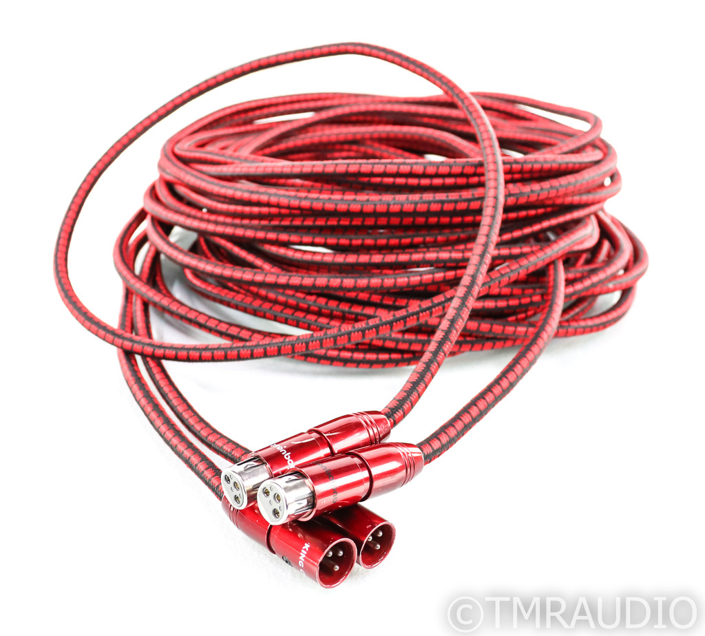 AudioQuest King Cobra XLR Cables; 36ft Pair Balanced Interconnects