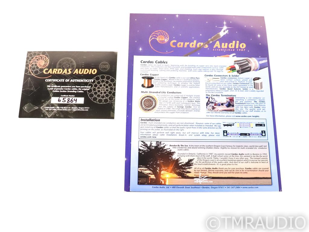 Cardas Audio Cygnus XLR Cables; 1ft Pair Balanced Interconnects