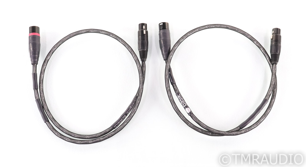 Synergistic Research Basik XLR Cables; 1m Pair Balanced Interconnects