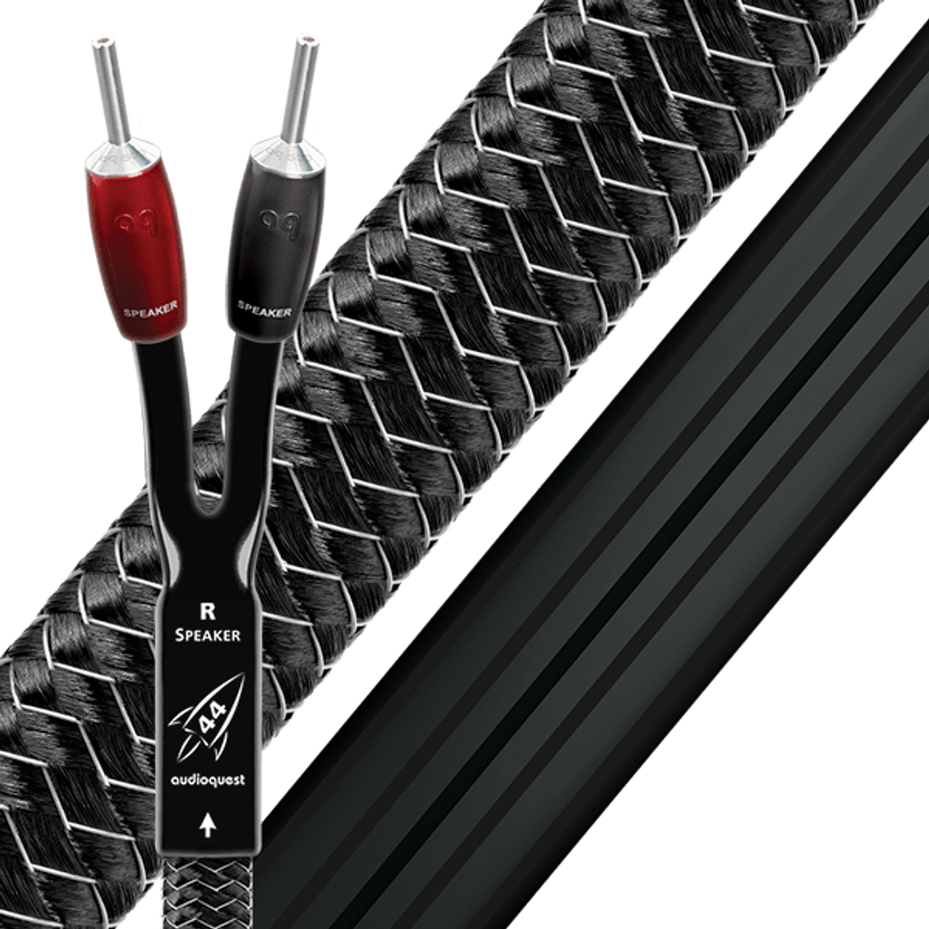 Audioquest Rocket 44 Speaker Cables; Banana Pair; New w/ Full Warranty