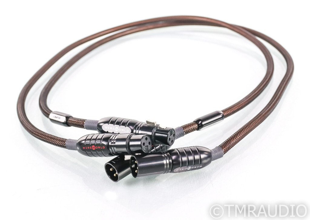Wireworld Eclipse 7 XLR Cables; 1m Pair Balanced Interconnects (SOLD)