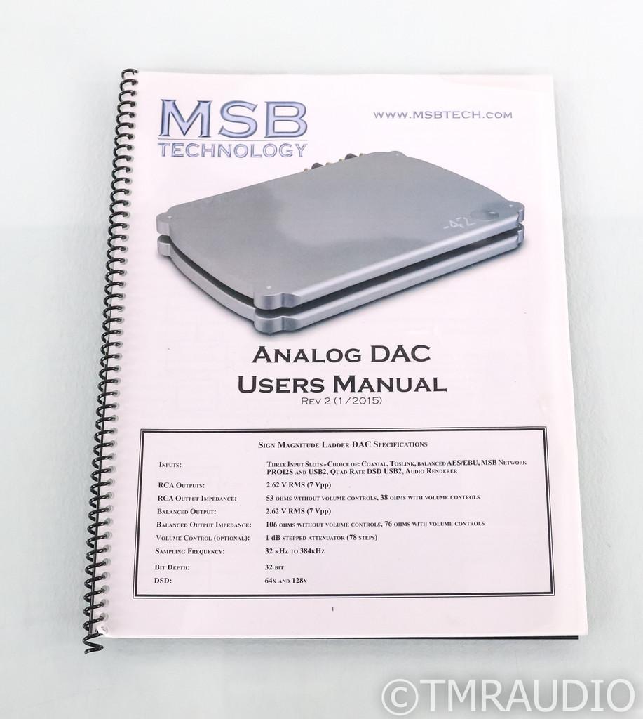 MSB Technology Analog DAC; Analog Power Base; D/A Converter; Network Streamer