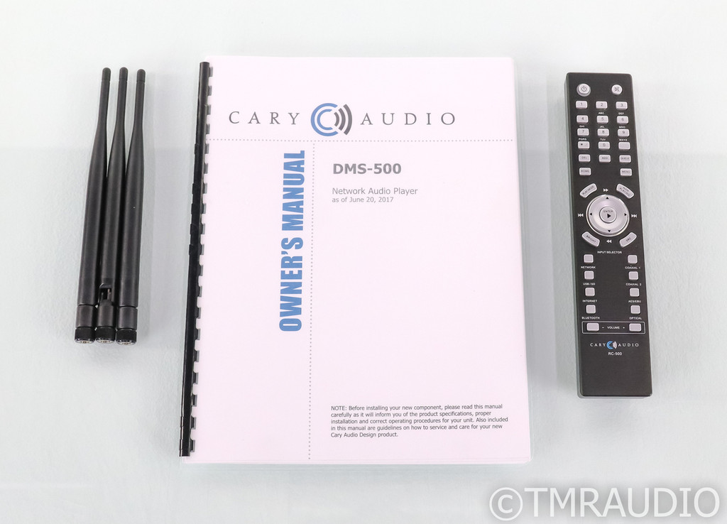 Cary Audio DMS-500 Network Streamer; DAC; DMS500; Remote