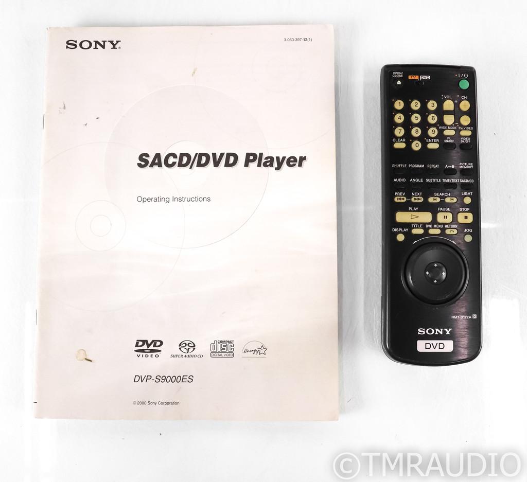 Sony DVP-S9000ES SACD / CD / DVD Player; DVPS9000ES; Remote
