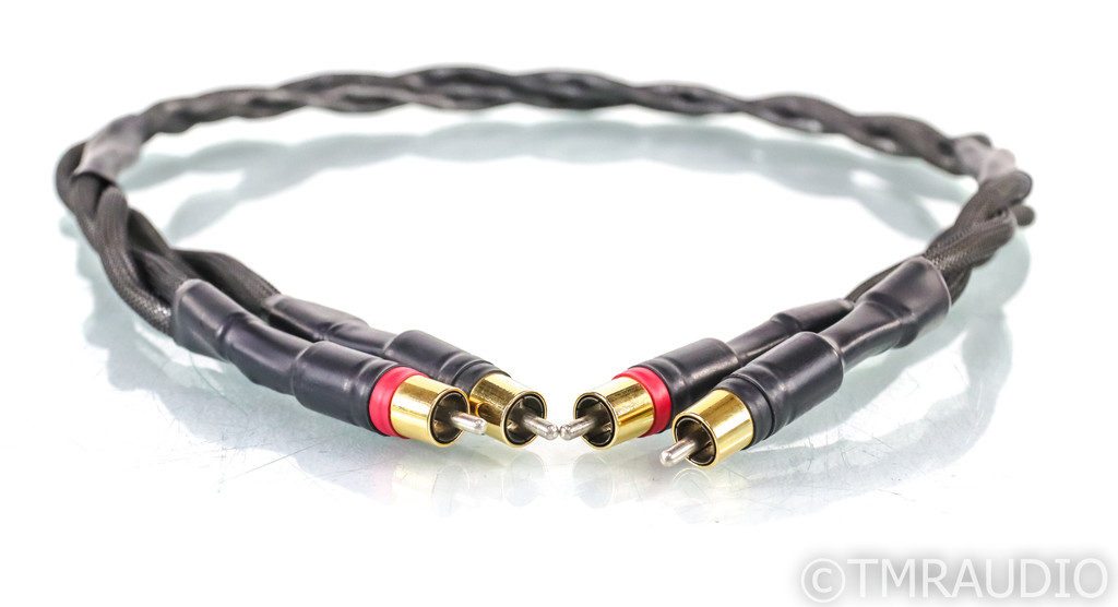 Synergistic Research Analog Phase II RCA Cables; 1m Pair; Grounding Wire