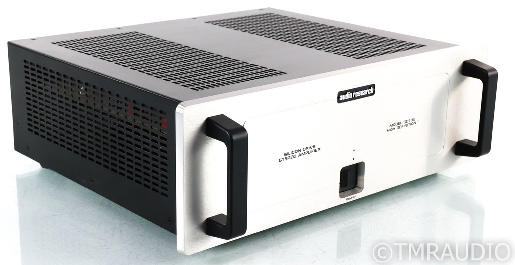 Audio Research SD135 Stereo Power Amplifier; Silver; Upgraded Power Cable