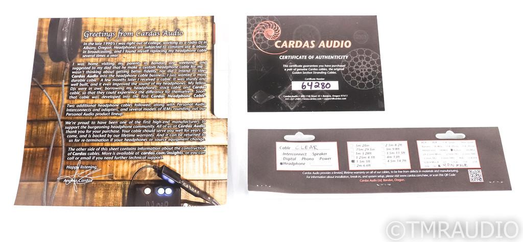 Cardas Clear Balanced Headphone Cable; 1.5m; For Audeze Headphones