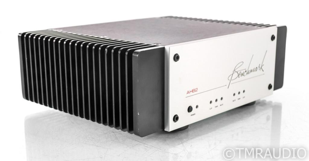 Benchmark AHB2 Stereo Power Amplifier; AHB-2; Balanced; Silver