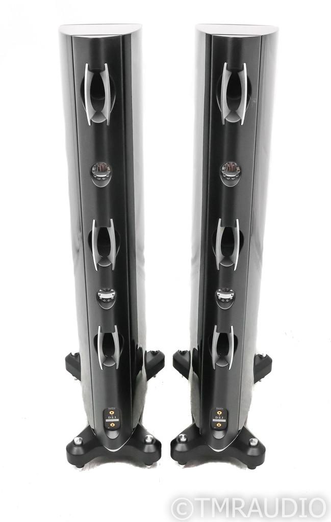 Raidho D2.1 Floorstanding Speakers; D-2.1; Gloss Black Pair