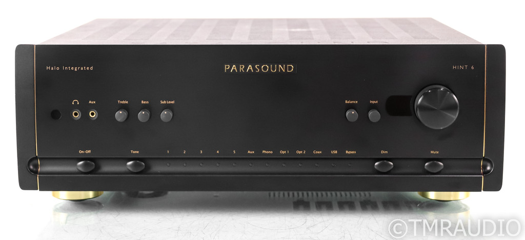 Parasound Halo HINT 6 Stereo Integrated Amplifier; Remote; MM / MC Phono